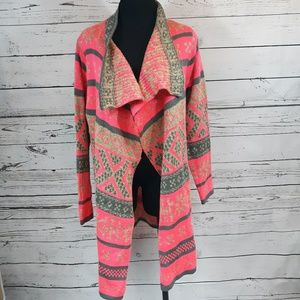 Kate Collection sweater/shrug Pink/gray, size L